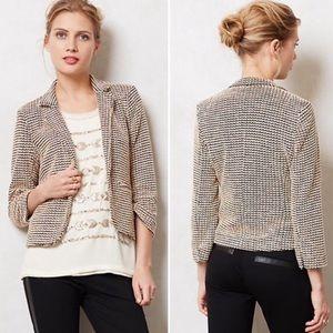 •Anthropologie• Cartonnier tamsin textured blazer